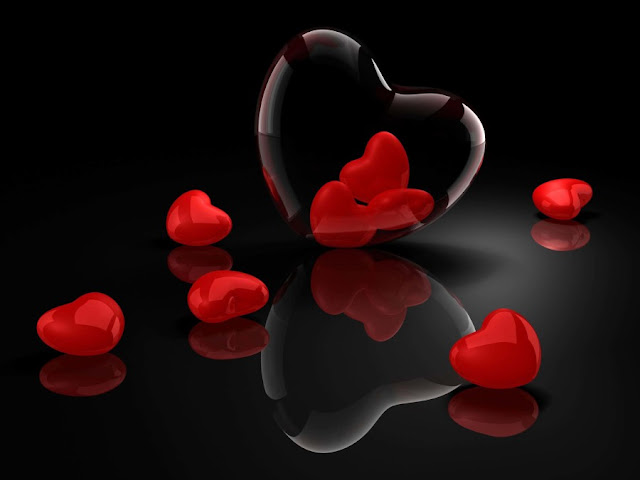 3D Heart Wallpapers Crystal Hreart HD Pictures Download