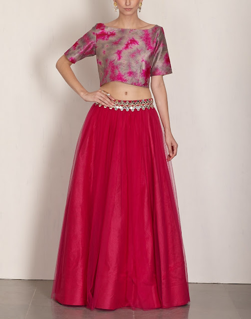 Cropped Blouse, Cropped Blouse Designs , Latest Cropped Blouse Designs , Cropped Designer Blouse