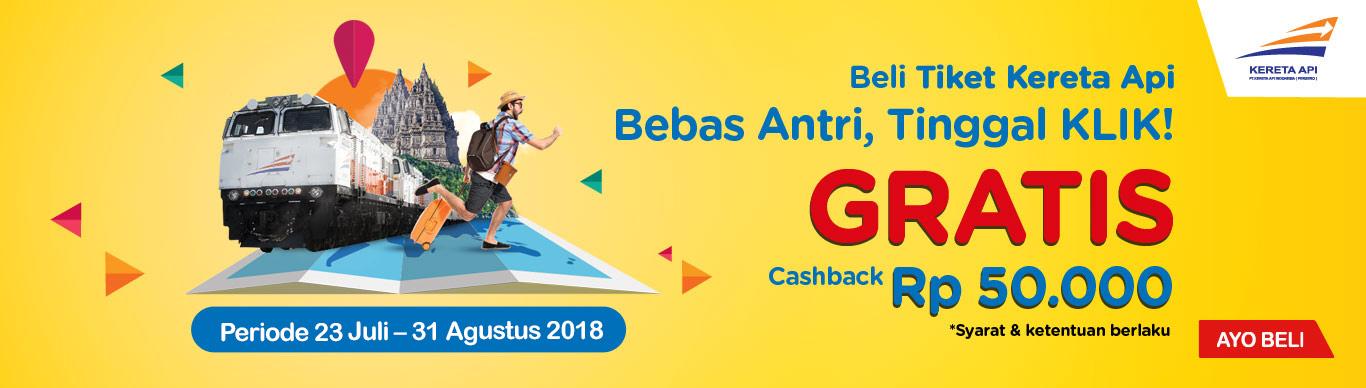 Indomaret - Beli Tiket di Klik Indomaret Dapat Cashbcak 50 Ribu (s.d 31 Agustus 2018)