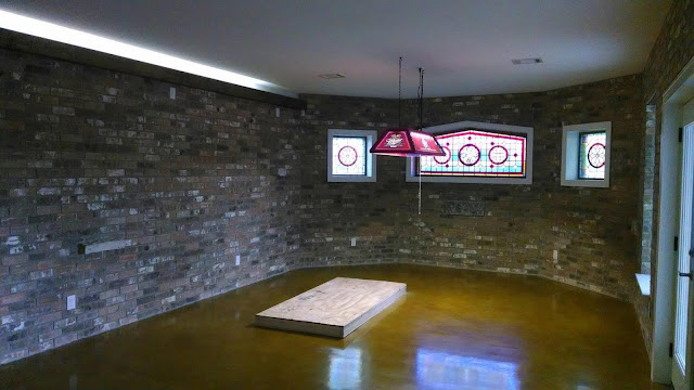 Stone walls in Man Cave