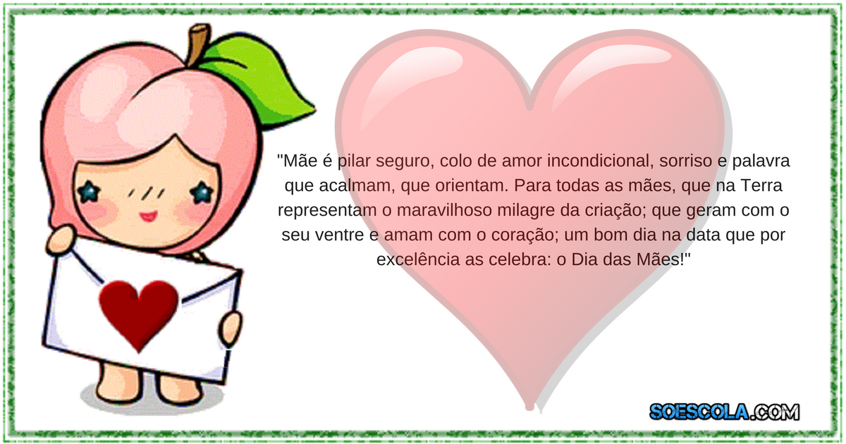 Mensagem Para Maes Imagens E Frases Para O Dia Das Maes So Escola