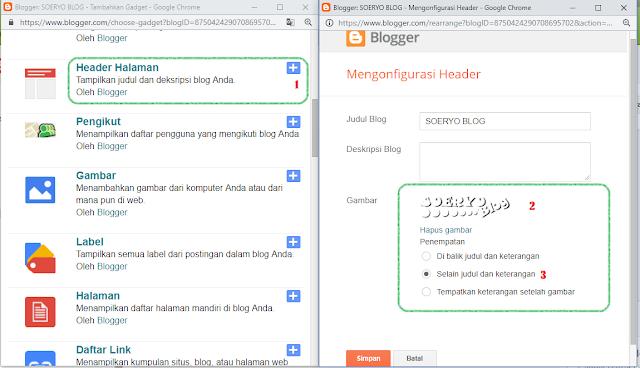 cara menambahkan gambar pada judul blog