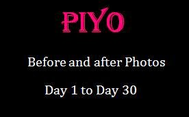 PiYo Before and After results Day 1 to 30