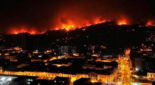 Pożar w Valparaíso Chile w 2014