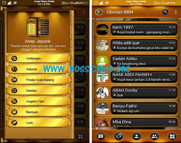 BBM Mod Black Gold Angelic Clone