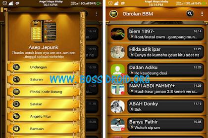 BBM Mod Black Gold v3.1.0.13 Apk Base BBM Transparent