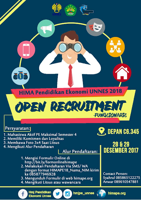 OPEN RECRUITMENT FUNGSIONARIS HMJPE UNNES 2018