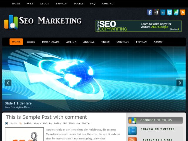 SEO Marketing Blogger Template