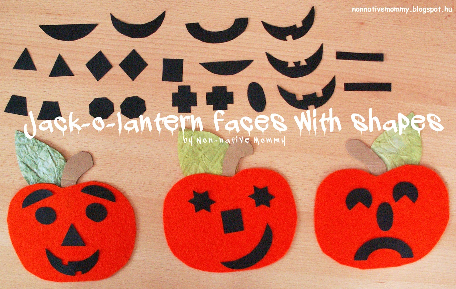 Non Native Mommy Jack O Lantern Faces With Shapes