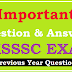 Important previous year Questions of UKSSSC Exam