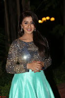 Nikki Galrani in Green Skirt  Top at Marakathamani music launch ~  Exclusive (65).JPG