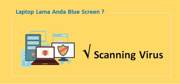 cara mengatasi layar biru laptop
