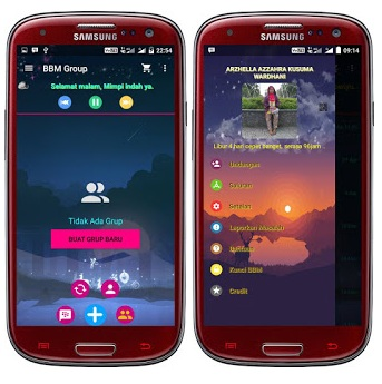 BBM Mod Versi Lama - Tema Incredible Journey