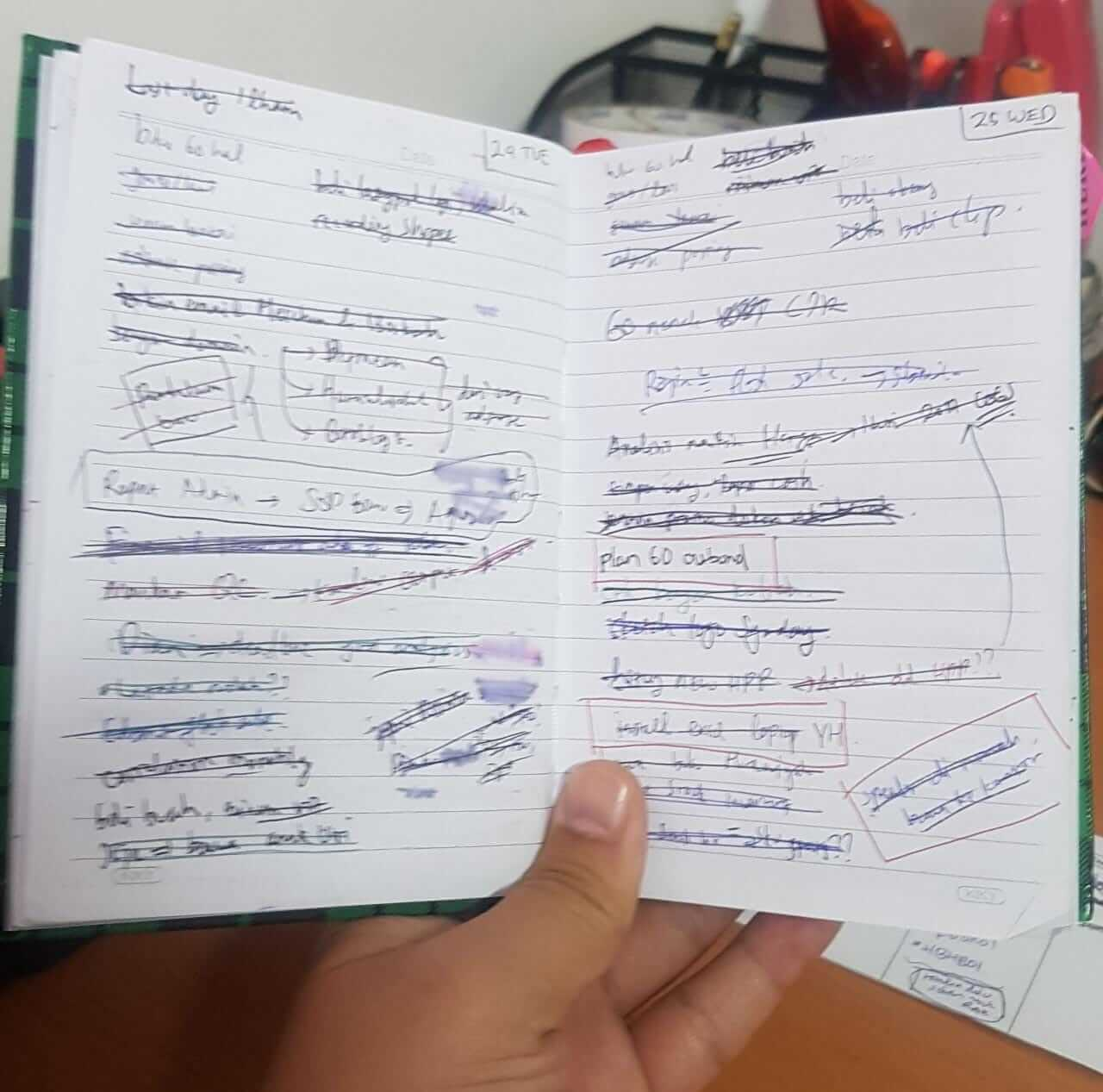 buku catatan pengingat tidak lupa