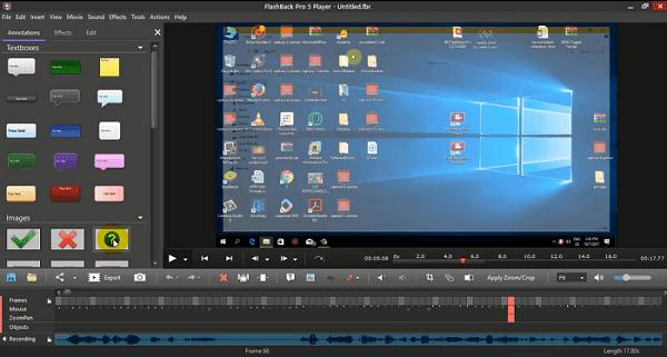 شرح مفصل لبرنامج FlashBack Pro 5 كامل لتصوير شاشة الكمبيوتر والمونتاج الجزء الأول