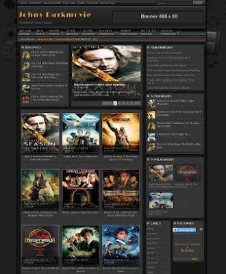 Johny Darkmovie - 16 Of The Best Free Blogger Templates