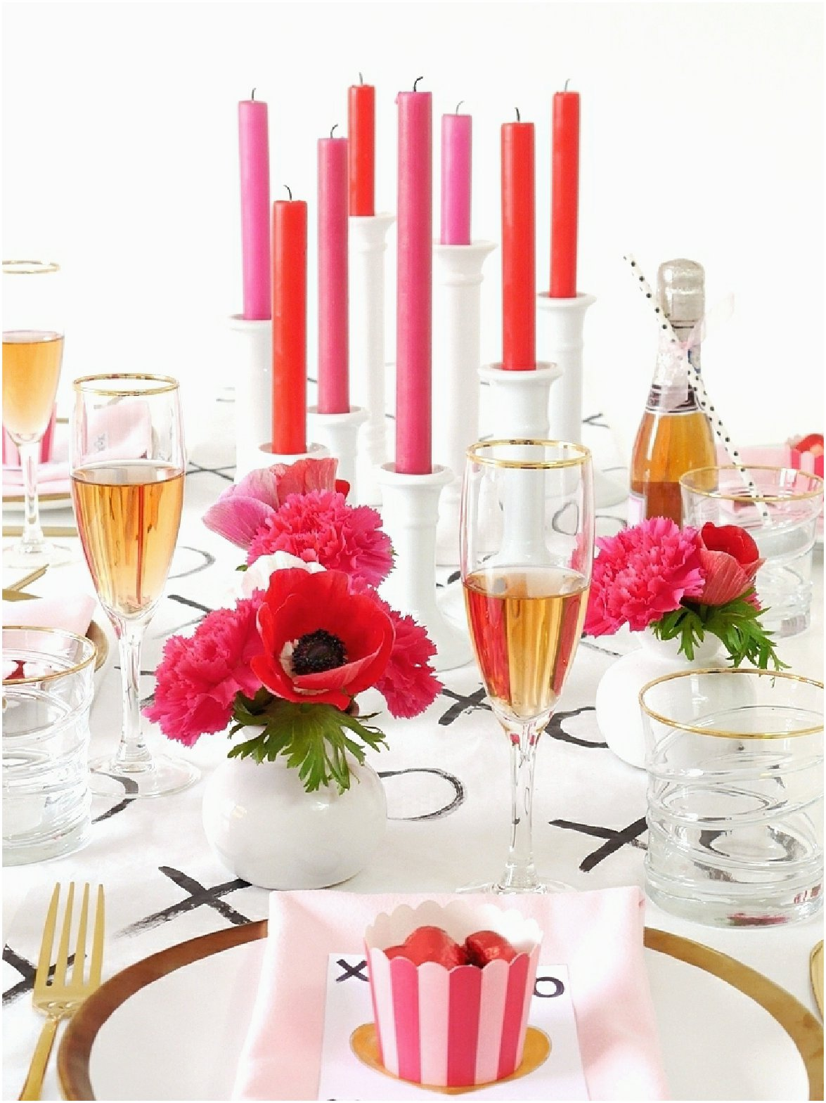 Modern Valentine's Day Dinner Party