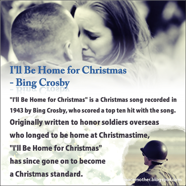bing crosby ill be home for christmas the world of peace the best dream - Bing Crosby I Ll Be Home For Christmas