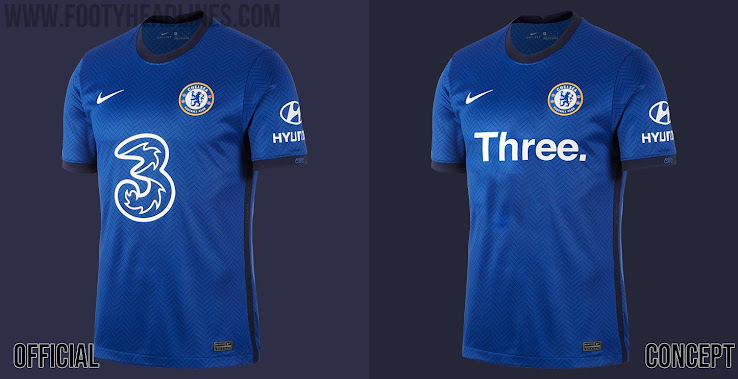 What If Nike Chelsea 20 21 Home Kit With Alternative Sponsor S Footy Headlines