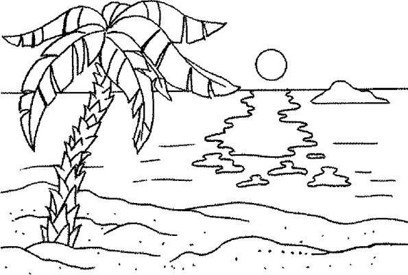 رسومات مناظر طبيعية للاطفال للتلوين
