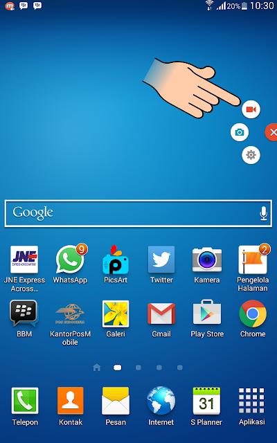 Cara merekam layar Android dengan Mudah pada Hp android