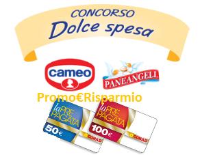 Logo Vinci buoni spesa Conad da 50,100 euro e TV 55'' con Dolce Spesa Cameo e Paneangeli