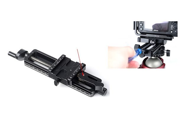 Sunwayfoto MFR-150 Macro Focusing Rail adjustable lever clamp