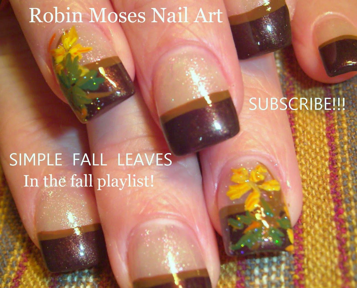Nail Art By Robin Moses Fall Leaves Fall Nails Fall Nail