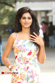 Actress Shamili Stills in Floral Short Dress at Sree Ramaraksha Song Launch 0045