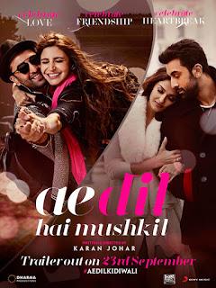 Ae Dil Hai Mushkil Song Lyrics | Ranbir Kapoor, Anushka Sharma, Aishwarya rai bachchan