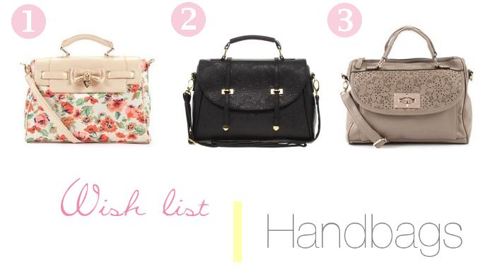 Wish list   Handbags
