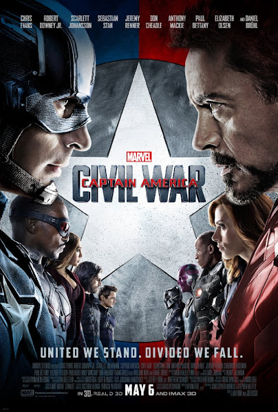 Poster of Captain America Civil War 2016 720p English BRRip Full Movie Download