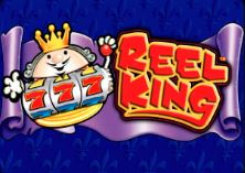 Logo of the Reel King Deluxe slot game