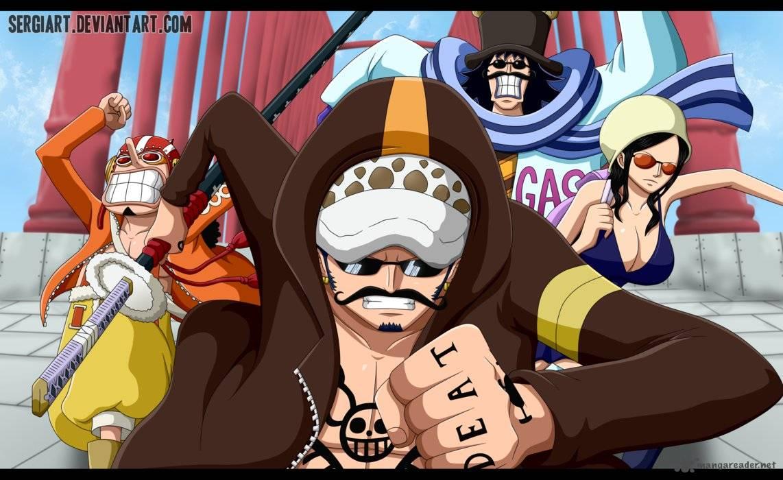 One Piece Ch.738: Trevor army, special executive S