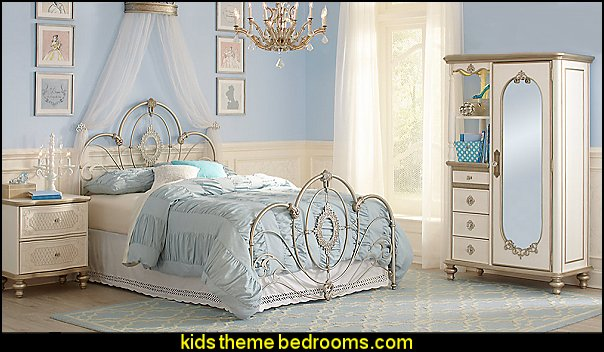 Decorating theme bedrooms maries manor princess bedroom for Princess themed bed