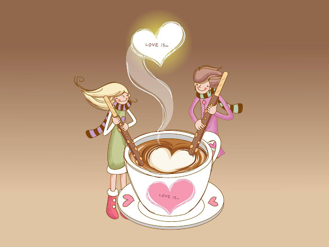 Boy & girl happy valentine day hd wallpaper
