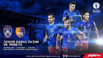 Live Streaming JDT FC vs PKNS FC 15 April 2017 Liga Super