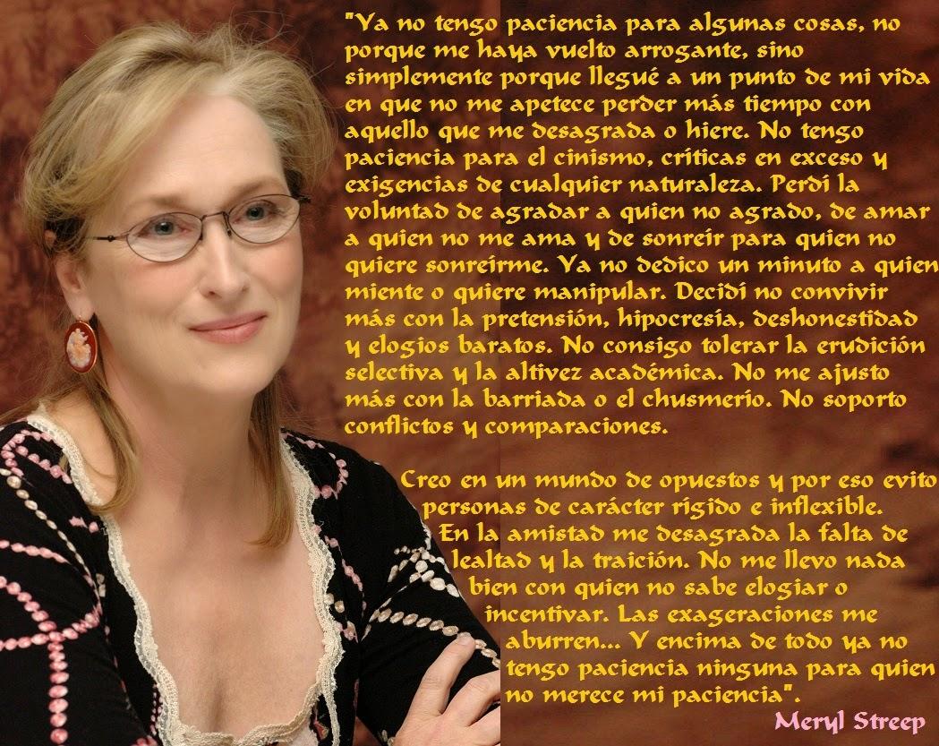 Soy De Mou Maryl Streep Frases