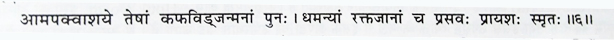 Sushrut samhita, Uttar tantram, chapter no. 54, shloka no. 6