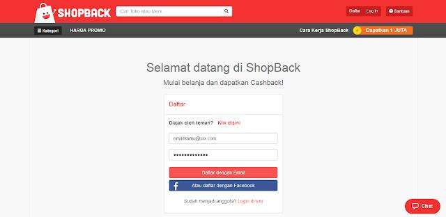 Cara daftar shopback