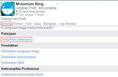 Informasi Pekerjaan di Facebook