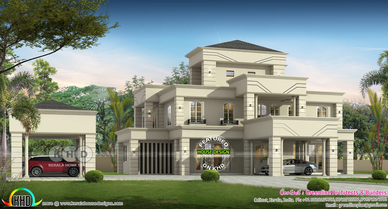 Luxury colonial house with 6 bedrooms kerala home design bloglovin rh com