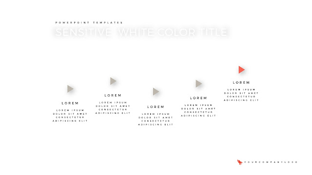 5 Step Process of Premium PowerPoint Template with Whit Title