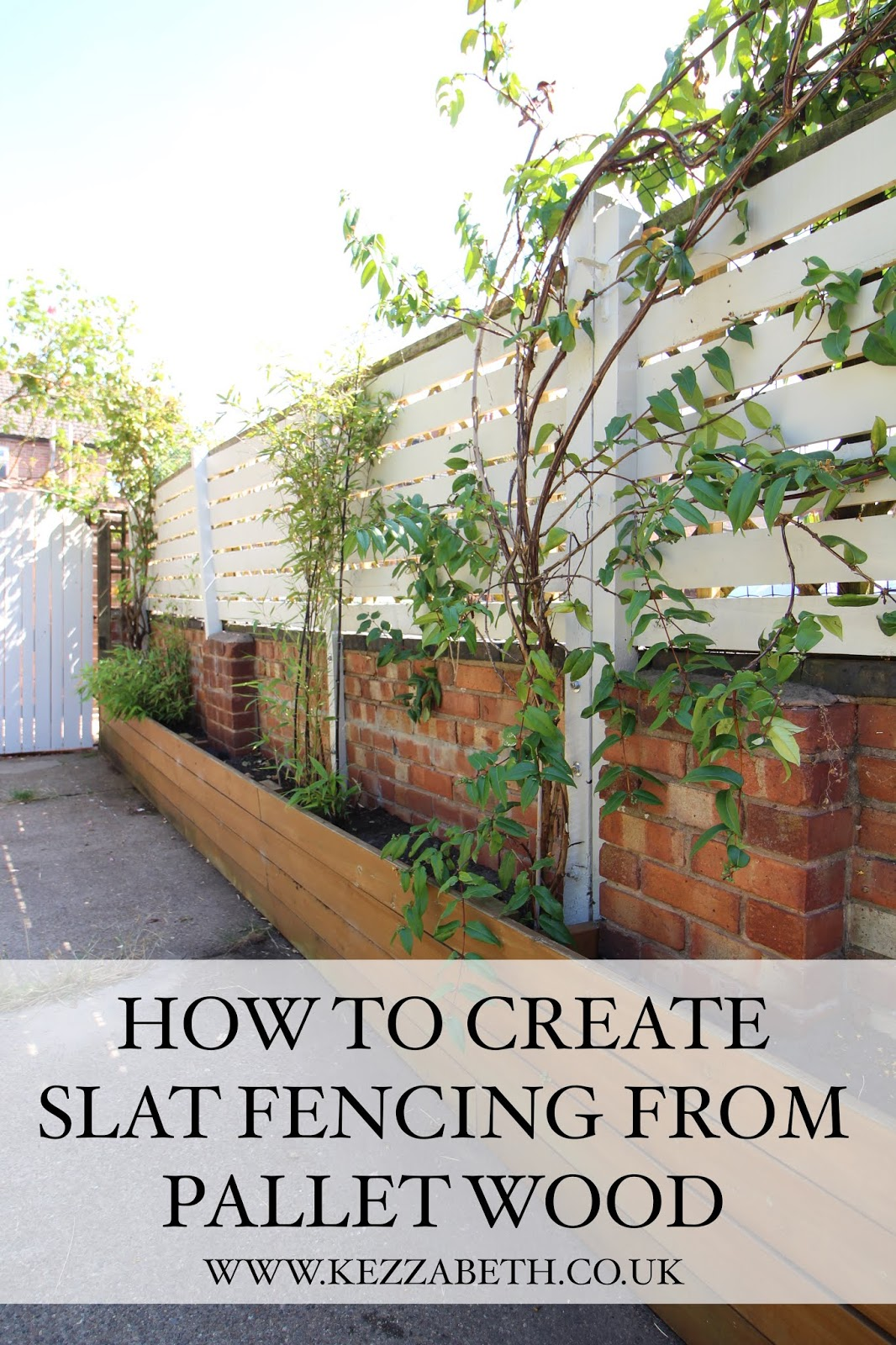 DIY slat fencing from pallet wood
