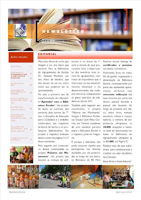 Newsletter BE abril-junho 2016