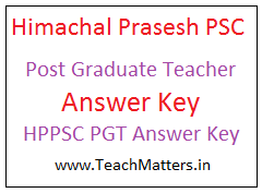 image : HP PSC PGT Answer Key @ TeachMatters