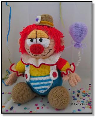 gehäkelter Clown