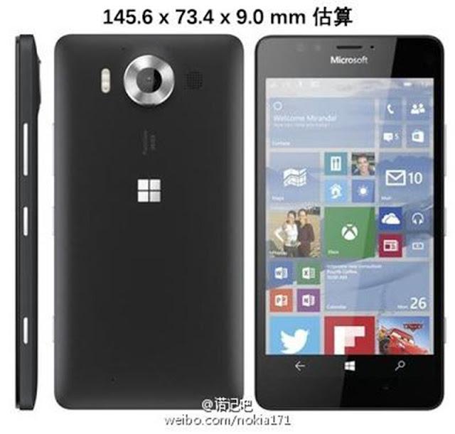 dimensioni lumia 950