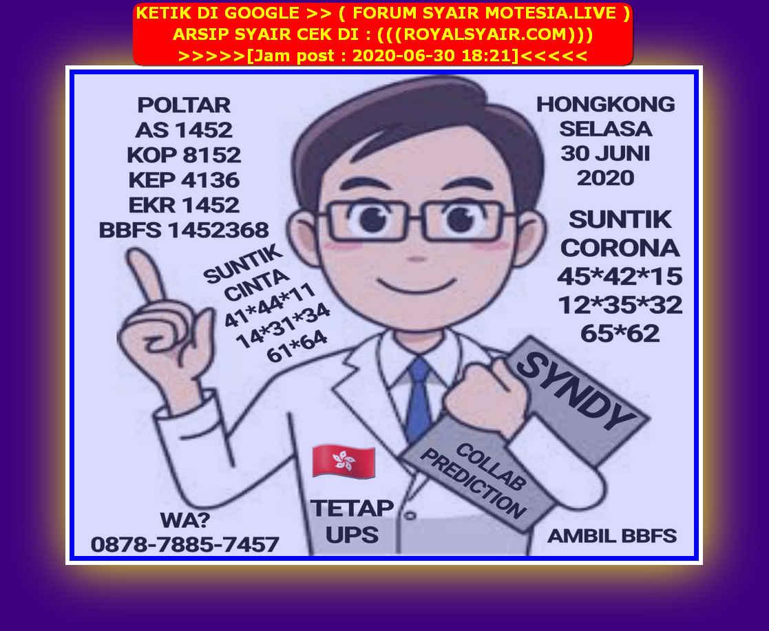 Kode syair Hongkong Selasa 30 Juni 2020 51