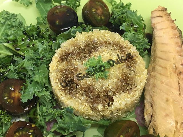 Ensalada de quinoa y kale